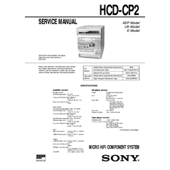 Preview of SONY HCD-CP2 [1st page]