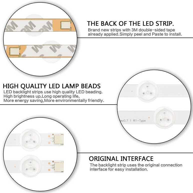 """12 pcs x 47 """"Retroilluminazione A LED Strisce per LG AGF78400801 LC470DUE-SFR1 LC470DUG-JFR1 6637L-0024A 6916L-1527A/1528A/1547A/ 1529A"""